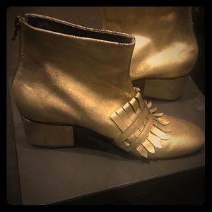 Rachel Comey Gold Bevi Boots